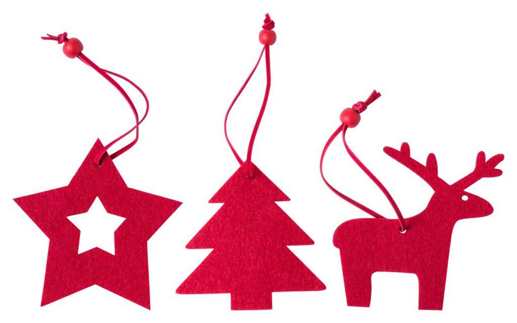 Stuck Kerstboom ornament set